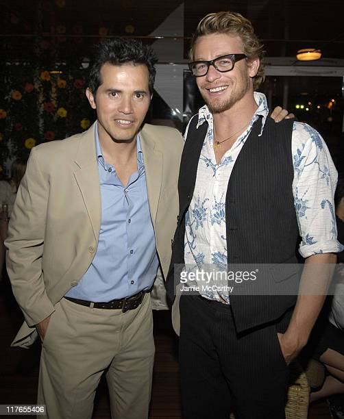 John Leguizamo and Simon Baker during 2005 Cannes Fiilm Festival AnheuserBusch Hosts 'Land of the Dead' Party at AnheuserBusch Big Eagle Yacht in...