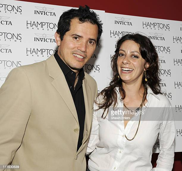 John Leguizamo and Victoria Pustynsky attend Hamptons Magazine Celebrates with Cover Star John Leguizamo at Hudson Terrace on June 19 2008 in New...