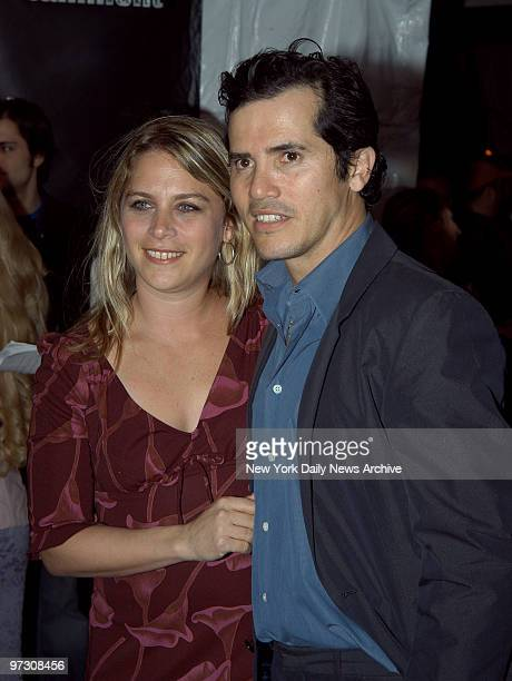 John Leguizamo and wife Justine are at Elaine's for Entertainment Weekly magazine's Academy Awards viewing party