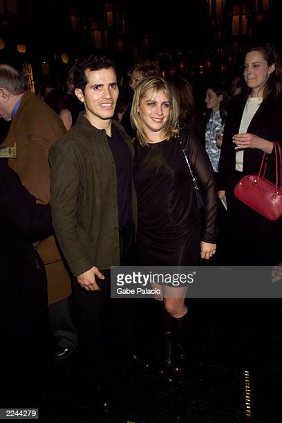 John Leguizamo and wife Justine at the party following the official opening of Sexaholixa love story in New York City on December 2 2001 photo by...