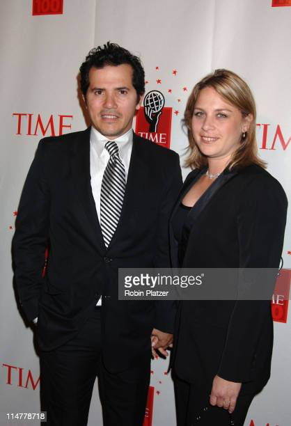 John Leguizamo and wife Justine during Time Magazine's 100 Most Influential People 2006 Inside Arrivals at Jazz at Lincoln Center in New York City...