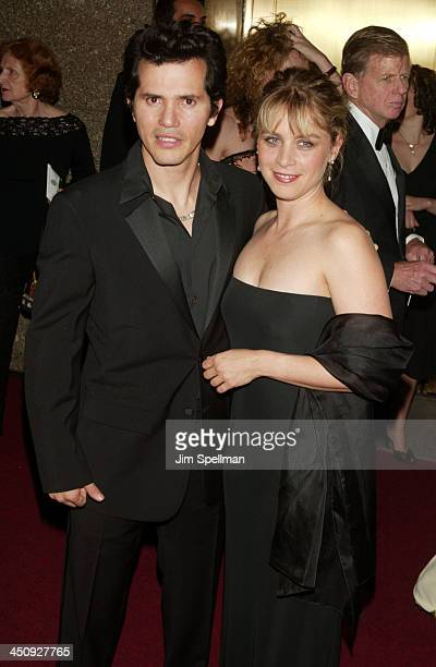 John Leguizamo and wife Justine Maurer during 2003 Tony Awards at Radio City Music Hall in New York City New York United States