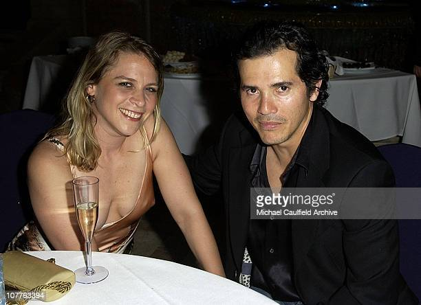 John Leguizamo and wife Justine Maurer during CineVegas 2004 Honoree Dinner at Bouchon at the Venetian Hotel in Las Vegas California United States