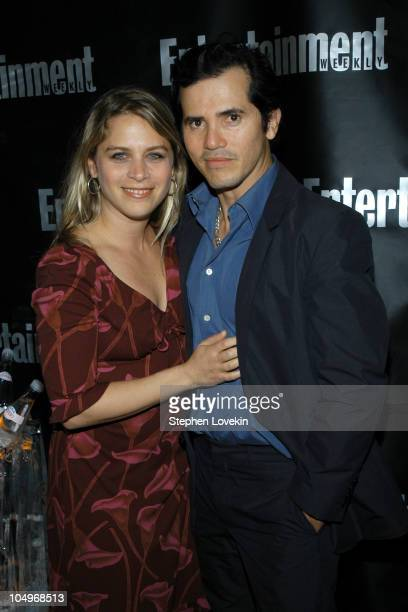 John Leguizamo and wife Justine Maurer during Entertainment Weekly Hosts 10th Annual Viewing Party at Elaine's in New York City New York United States