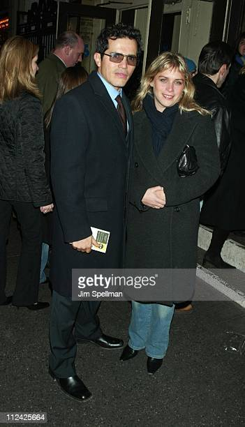 John Leguizamo and wife Justine Maurer during Rosie Perez and Joe Pantoliano Cast Change in the Revival of Frankie and Johnny in the Clair de Lune...