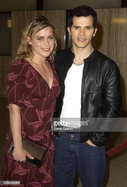 John Leguizamo and wife Justine Maurer during Spun Los Angeles Premiere at Cinerama Dome in Hollywood California United States