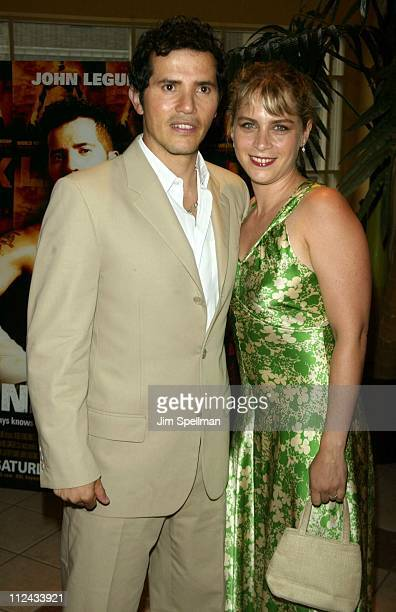 John Leguizamo and wife Justine Maurer during Undefeated New York Premiere at Loews 34th Street Theaters in New York City New York United States
