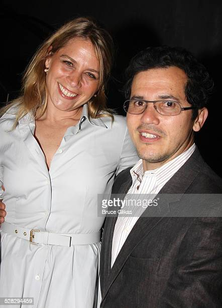 John Leguizamo and wife Justine Maurer pose at the 2008 Fidelity FutureStage Students and Playwrights Presentation at New World Stages on June 2 2008...