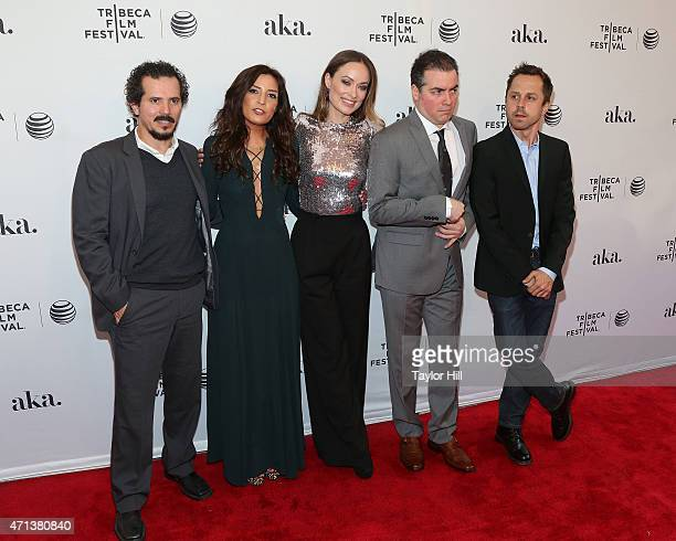 John Leguizamo, Reed Morano, Olivia Wilde, Kevin Corrigan, and Giovanni Ribisi attend the world premiere of 'Meadowland' during 2015 Tribeca Film...