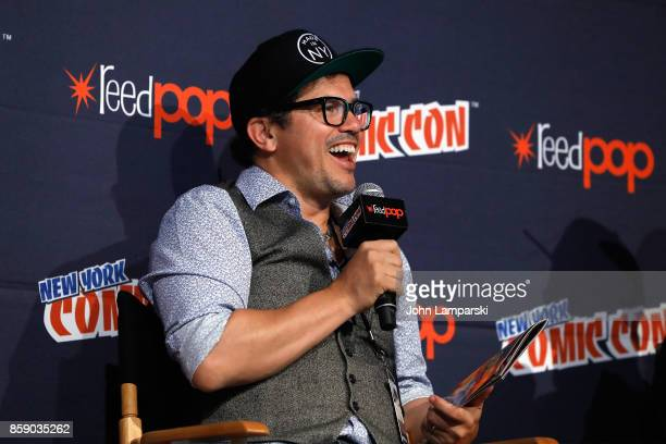 John Leguizamo speak onstage during the FREAK The Comic Book panel at the 2017 New York Comic Con Day 4 on October 8 2017 in New York City