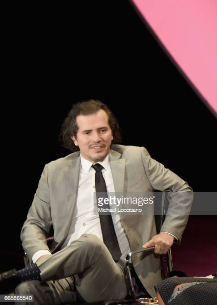 John Leguizamo speaks during the Eighth Annual Women In The World Summit at Lincoln Center for the Performing Arts on April 7 2017 in New York City