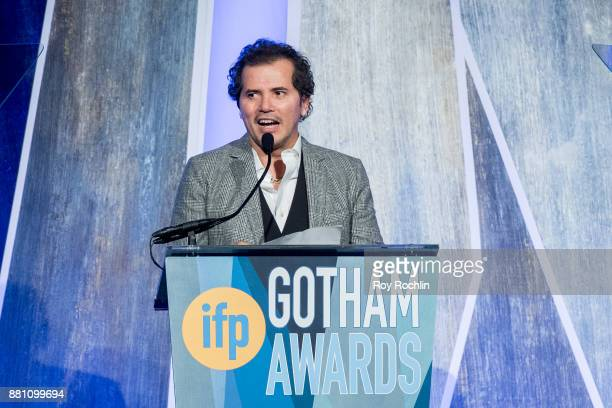 John Leguizamo speaks onstage during IFP's 27th Annual Gotham Independent Film Awards at Cipriani Wall Street on November 27 2017 in New York City