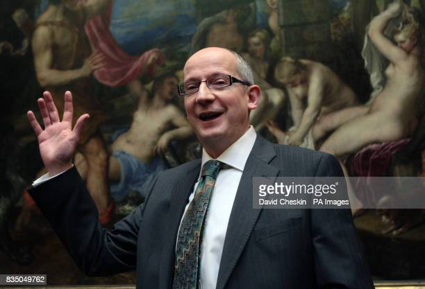 John Leighton DirectorGeneral of the National Galleries of Scotland stands in front of Titian's Diana and Actaeon as they announce that it was...
