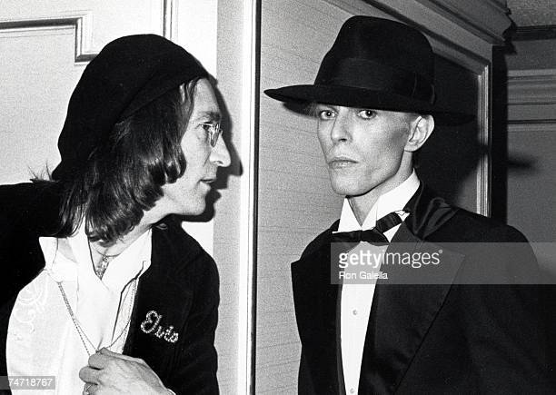 John Lennon and David Bowie at the Uris Theater in New York City New York