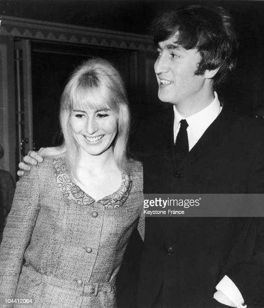 John LENNON and his first wife Cynthia April 23rd 1964