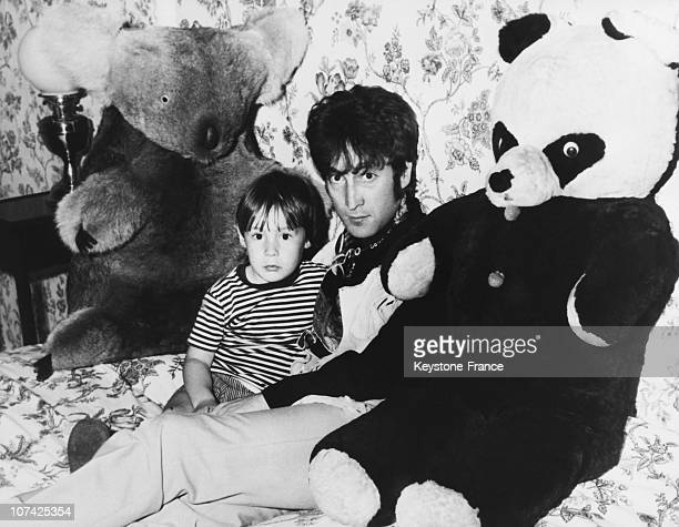 UNSPECIFIED John Lennon And His Son Julian On 1968