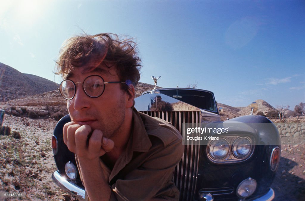 John Lennon and Rolls-Royce in Desert