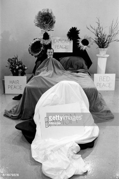 John Lennon and Yoko Ono appear on Thames Television's 'Today' programme with Eamonn Andrews Eamonn started the programme in a bed and was joined by...