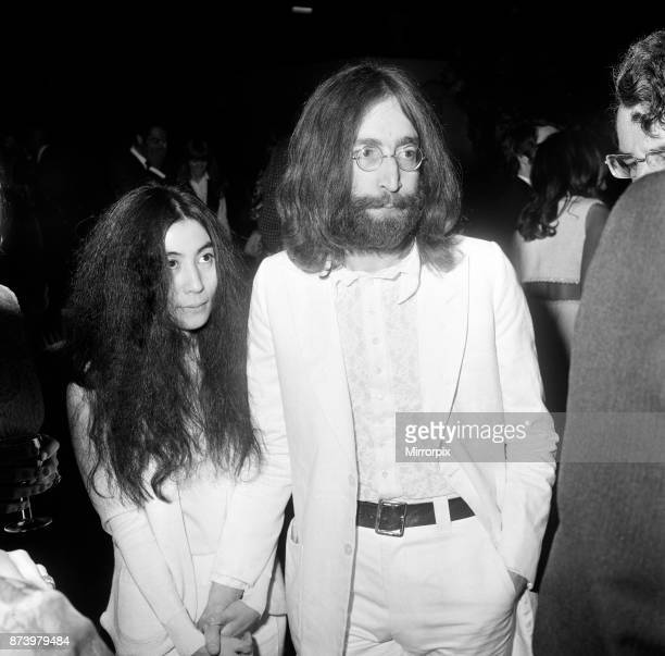 John Lennon and Yoko Ono at the film reception of 'The Magic Christian' 4th May 1969
