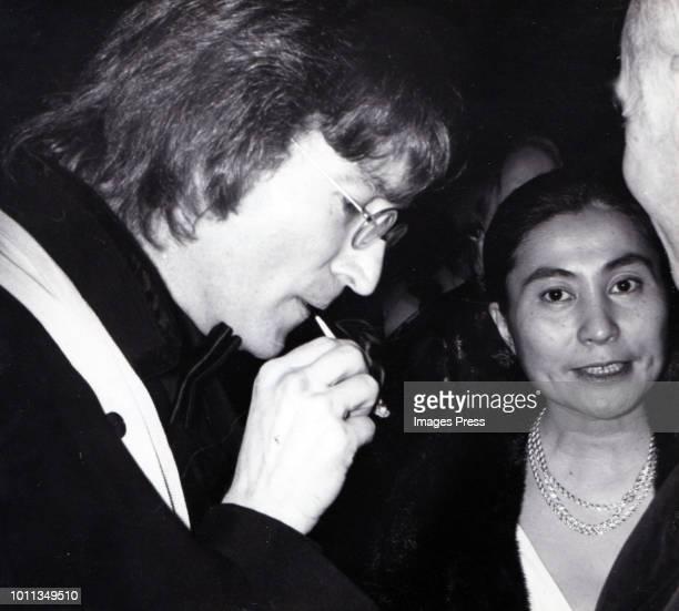 John Lennon and Yoko Ono circa 1979 in New York City.