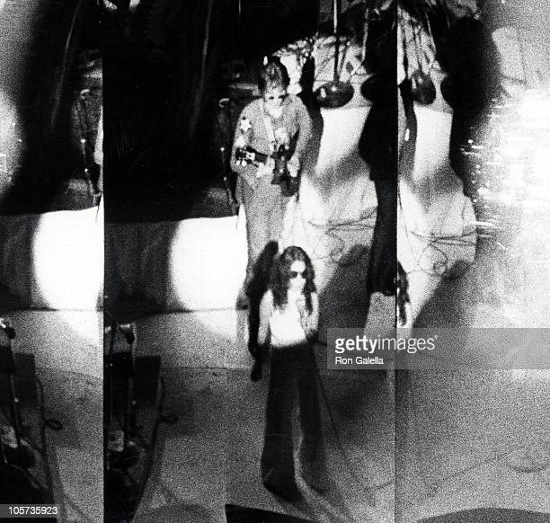 John Lennon and Yoko Ono during Yoko Ono's 'One to One' Concert August 30 1972 at Madison Square Garden in New York City New York United States
