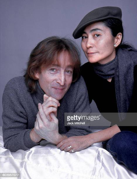 John Lennon and Yoko Ono photographed on November 2 1980 the first time in five years that Lennon had been photographed professionally and the last...