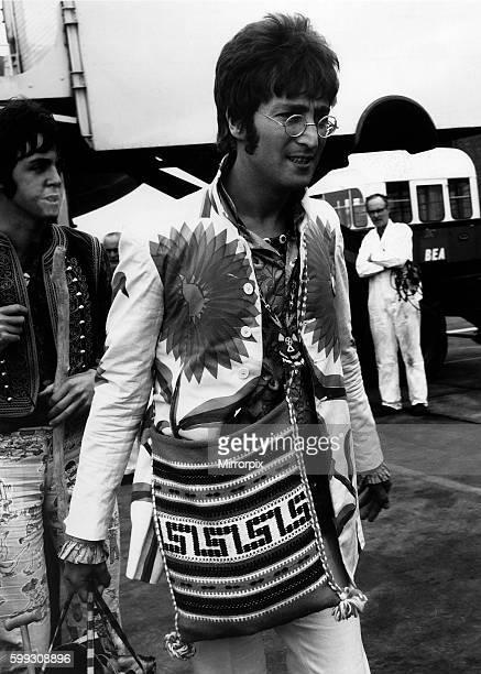 John Lennon at London airport 1967