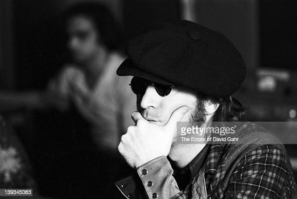 John Lennon at the The Record Plant Studios during a recording session for Harry Nilsson in May 1974 in New York City New York