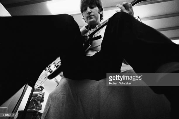 John Lennon backstage at the Budokan Hall Tokyo Japan during the Beatles Asia tour 2nd July 1966