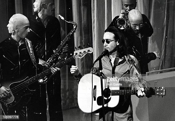 John Lennon during Salute to Sir Lew Grade April 18 1975 at New York Hilton Hotel in New York City New York United States