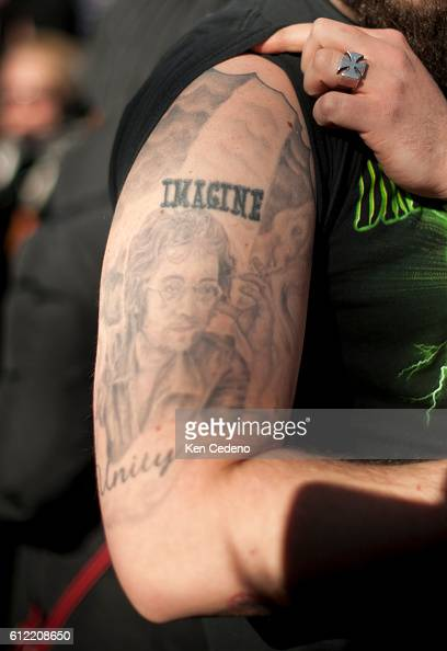 A John Lennon Fan Shows Off His Tattoo Of The Legendary Singer From News Photo Getty Images
