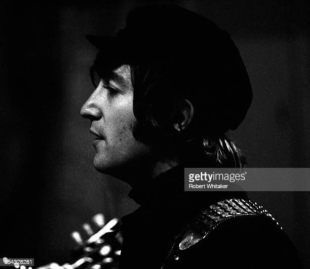 John Lennon is pictured at the Donmar Rehearsal Theatre in central London during rehearsals for The Beatles upcoming UK tour November 1965
