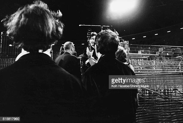 John Lennon leaves the stage after the Beatles' last show of their final tour at Candlestick Park San Francisco California August 29 1966