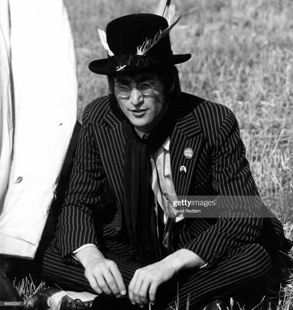 John Lennon Of English Rock And Pop Group The Beatles Wearing A Hare News Photo Getty Images