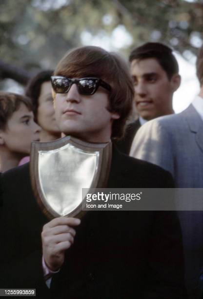 John Lennon of The Beatles at Empire Pool in Wembley before the New Musical Express Annual Poll Winner's Concert in what would be the band's final...
