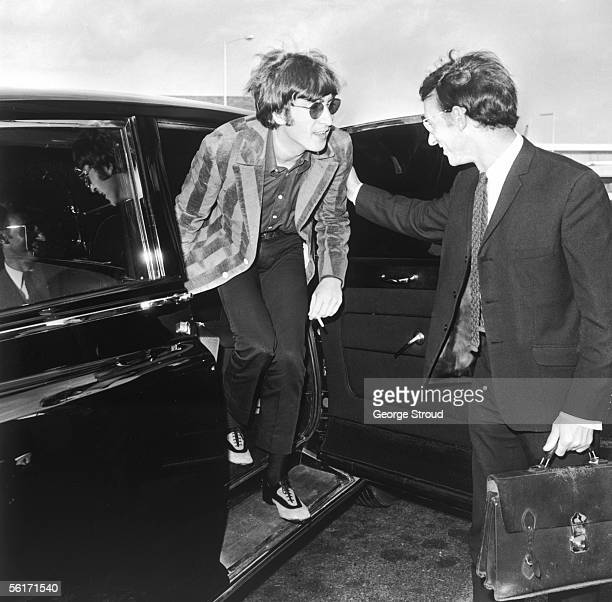 John Lennon of the Beatles at London Airport 5th September 1966