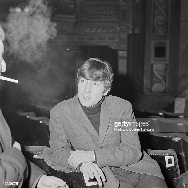 John Lennon of The Beatles at the Gaumont Cinema Doncaster 10th December 1963