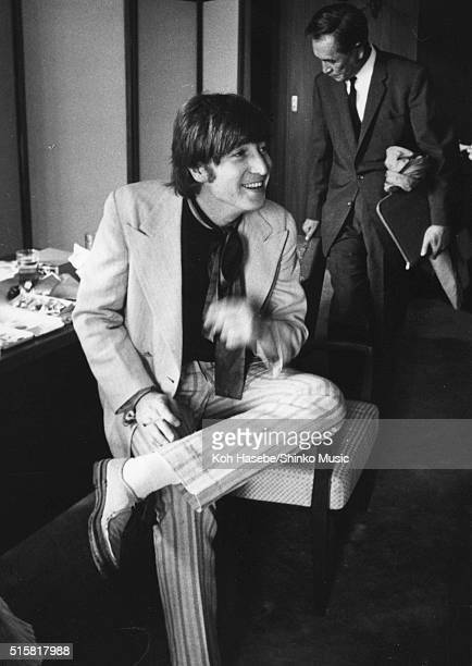 John Lennon of The Beatles during an interview with Japanese music magazine 'Music Life' at Tokyo Hilton Hotel Japan July 2 1966