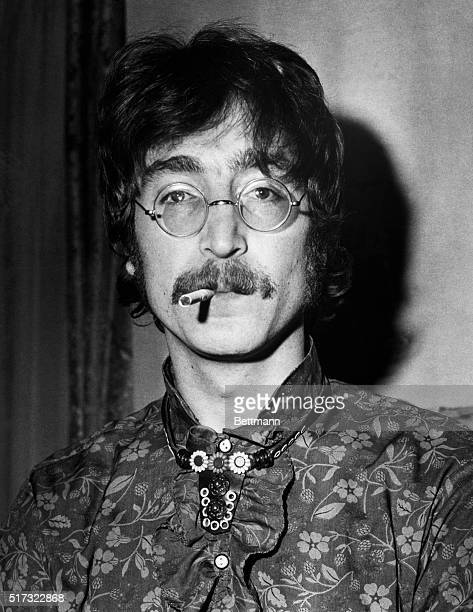 John Lennon of the Beatles during the May 1967 announcement of the upcoming release of the band's latest album Sgt Pepper's Lonely Hearts Club Band