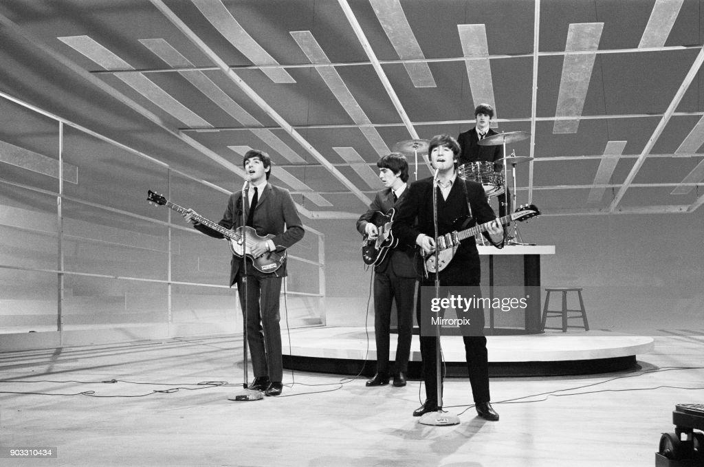 John Lennon Paul Mccartney George Harrison And Ringo Starr Rehearse News Photo Getty Images