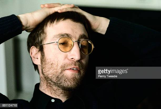 John Lennon Wearing Yellow Glasses
