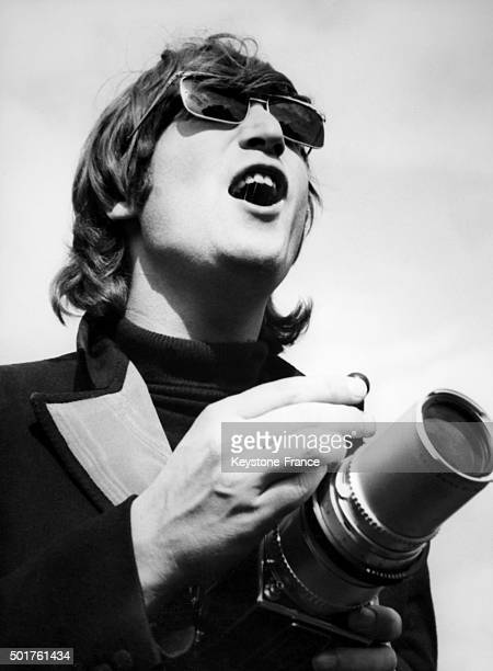 John Lennon with a Hasselblad camera at Chiswick House in London United Kingdom in 1966