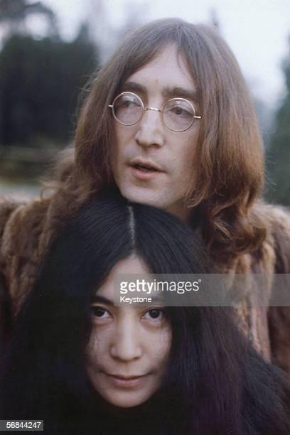 John Lennon with Yoko Ono, December 1968.
