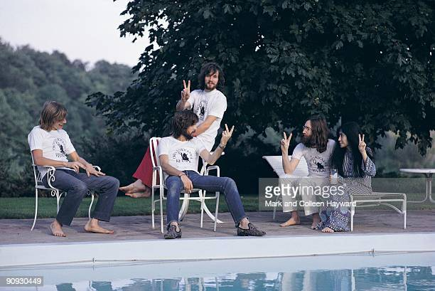John Lennon Yoko Ono and Eric Clapton have different views on how to say 'peace' the day after the Plastic Ono Band headlined the Toronto Rock 'n'...