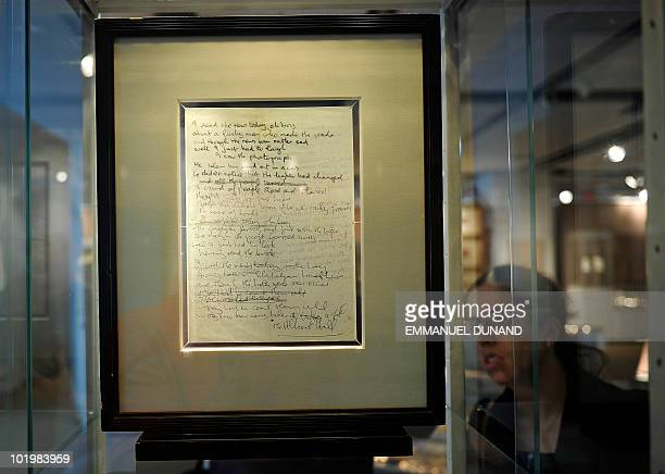 John Lennon�s autograph lyrics for 'A Day In The Life' the revolutionary song that marked the Beatles transformation from pop icons to artists are on...