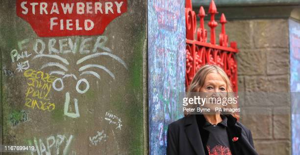 John Lennon's sister and honorary president of the Strawberry Field project Julia Baird during the opening of the former Strawberry Field children's...
