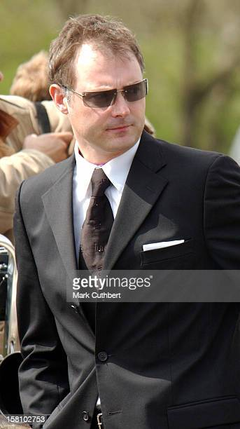 John Leslie Attends The Funeral Of Caron Keating At Herver Castle In Kent