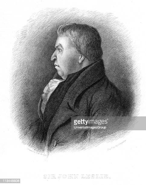 John Leslie Scottish natural philosopher and physicist. Leslie invented a number of scientific instruments and in 1810 created artificial ice....