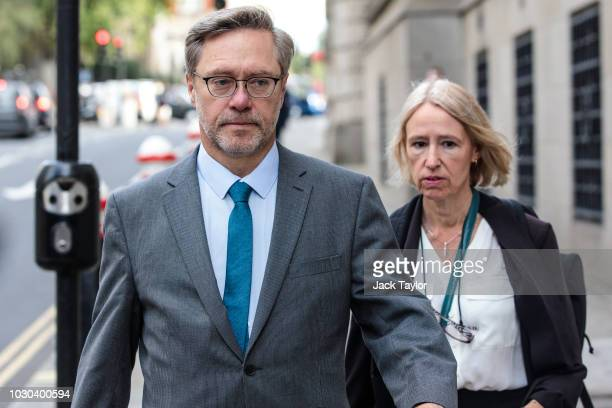 John Letts and Sally Lane arrive at the Old Bailey charged with making money available for suspected terrorist activities on September 10 2018 in...