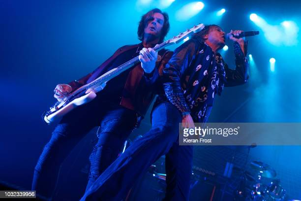 John Leven and Joey Tempest of Europe perform at the Olympia Theatre on September 12 2018 in Dublin Ireland
